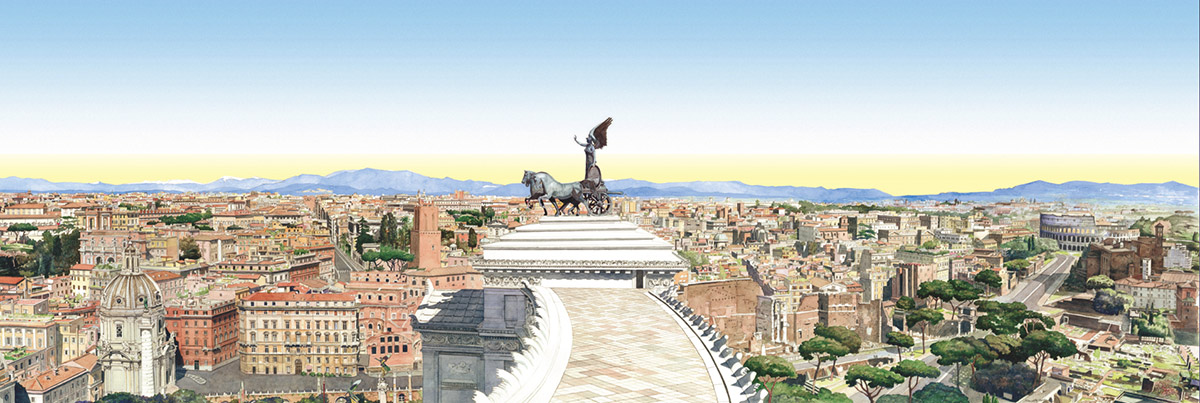 Rome from the Quadrighe Vittoriano – A.D. MMVII – From Quirinale to Colosseo