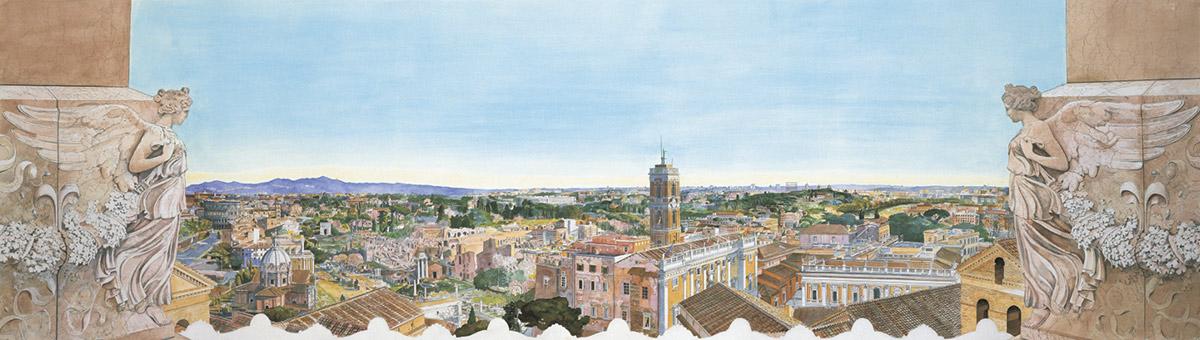 Roma dalle quadrighe del Vittoriano A.D. MMVII – Dal Colosseo al Campidoglio al Tevere