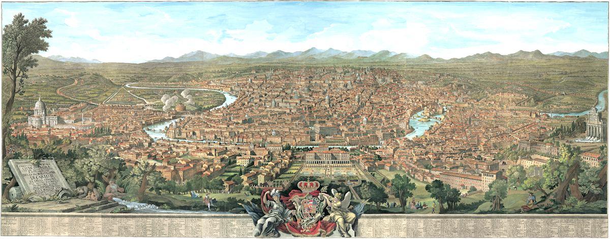 Vista dell'Alma Città di Roma di Giuseppe Vasi – Anno 1765